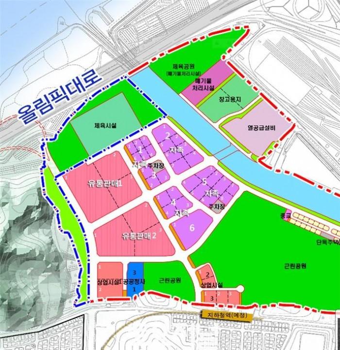 비즈밸리 토지이용계획도(획지번호).jpg