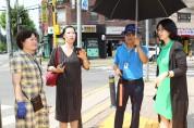 진선미 강동구의원, 본격적인 폭염 전 강일·고덕동 소재 학교주변 그늘막 현황 점검 나서