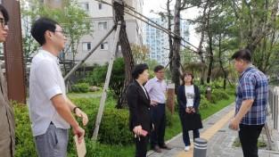 신무연 강동구의원, 고덕숲 아이파크 교통편의 증진위한 현장점검
