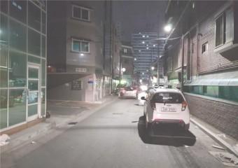 밤길 주택가, 환한 LED 보안등 달아 안심